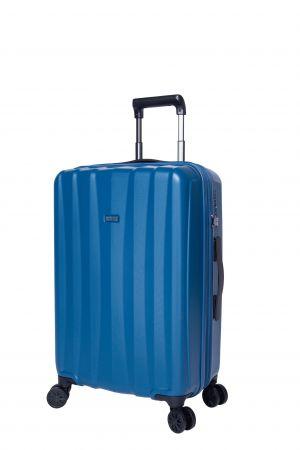 Valise 4 Roue Moyenne Extensible 66 cm-Bleu Pétrole