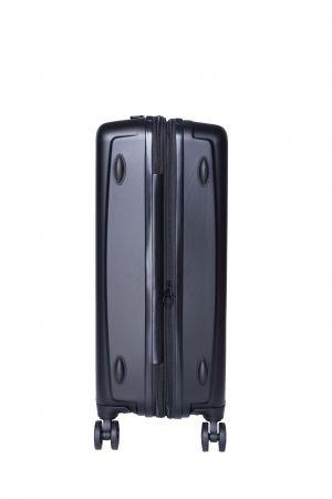 Valise 4 Roue Moyenne Extensible 66 cm-Noir