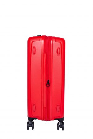 Valise 4 Roue Moyenne Extensible 66 cm-Rouge