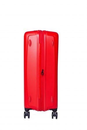 Valise 4 Roue Jumbo Extensible 76 cm-Rouge