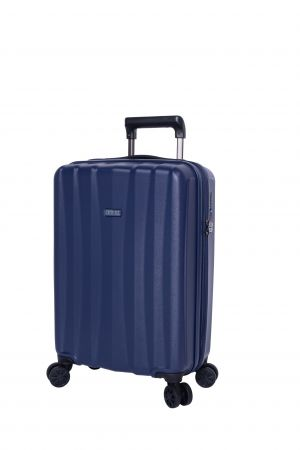 Valise Extensible 4 roues cabine Universelle 55 cm-Marine
