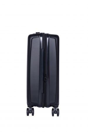 Valise Extensible 4 roues cabine Universelle 55 cm-Noir