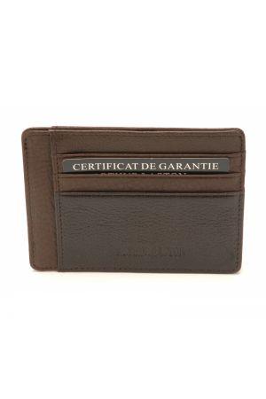 Porte-carte Julio cuir-Cognac