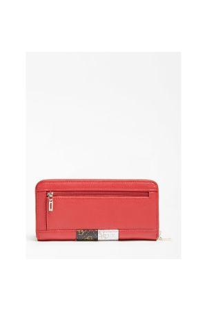 Grand portefeuille Compagnon zippé Katey-Rouge