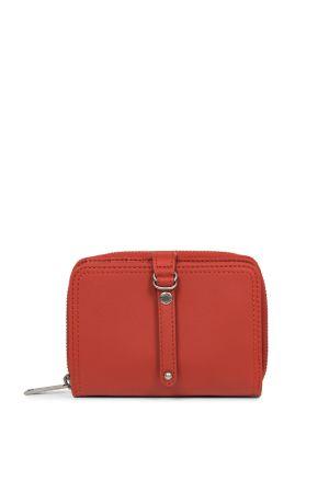Portefeuille Porte-monnaie cuir-Rouge