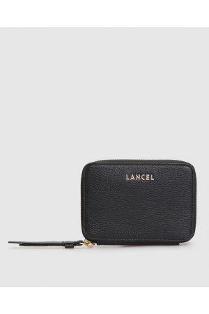 Portefeuille Lettrines zippé cuir Lancel-Noir