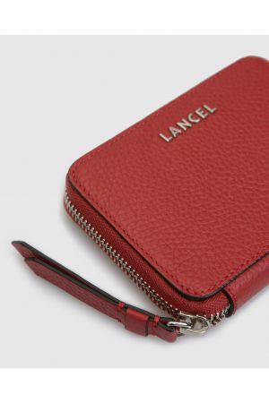 Portefeuille Lettrines zippé cuir Lancel-Red