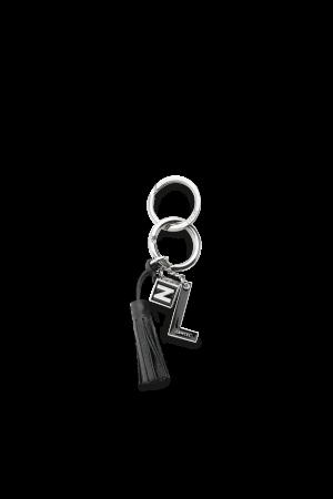 Porte-clés NEUF avec breloques métal & émail-Framboise