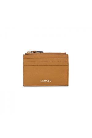 Porte-cartes Lettrines cuir Lancel-Camel