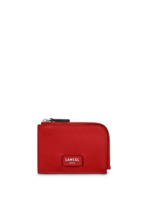Portefeuille NINON fin cuir zippé Lancel-Rouge