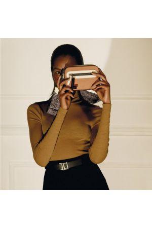 Sac caméra CARA cuir Lancel-Camel + Crème
