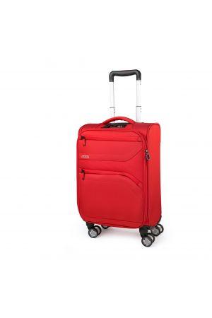 Valise extensible 4 roues cabine 55 cm-Rouge Piment