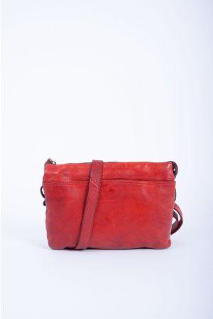 Sac besace Vintage Cuir-Rouge