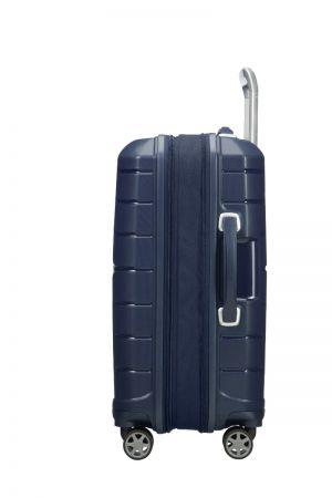 Valise Cabine 4 roues Extensible 55 cm-Bleu