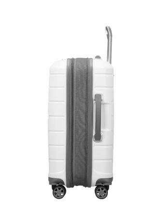 Valise Cabine 4 roues Extensible 55 cm-Blanc
